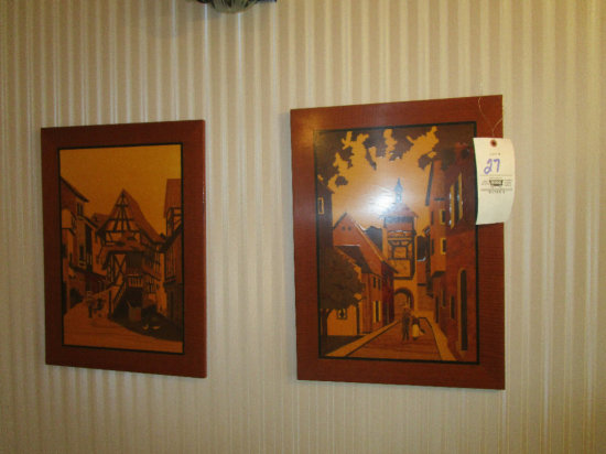 "Two ""Marguetry"" Masterpieces art work"