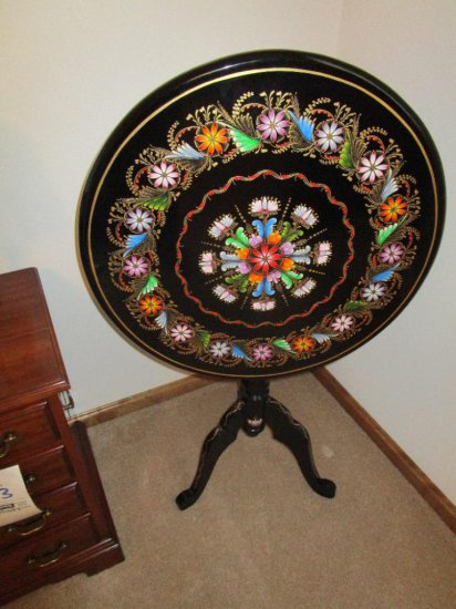 Inlay-ed tilt top table
