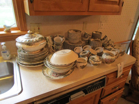 Large Set of Johnson Bros. China