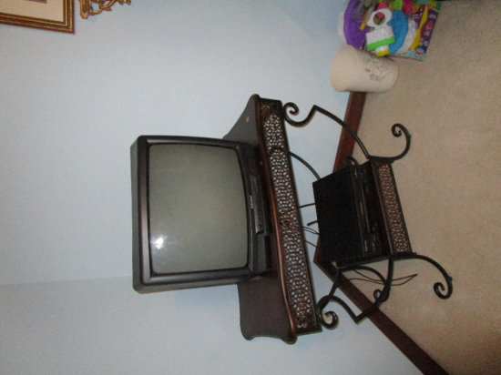 Television, VCR and Stand