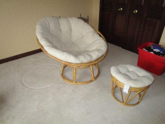 Rattan Style Adjustable Lounge Chair