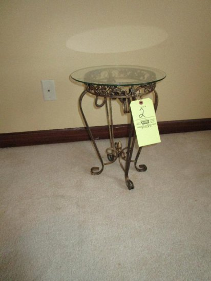 Side Stand with Glass Top
