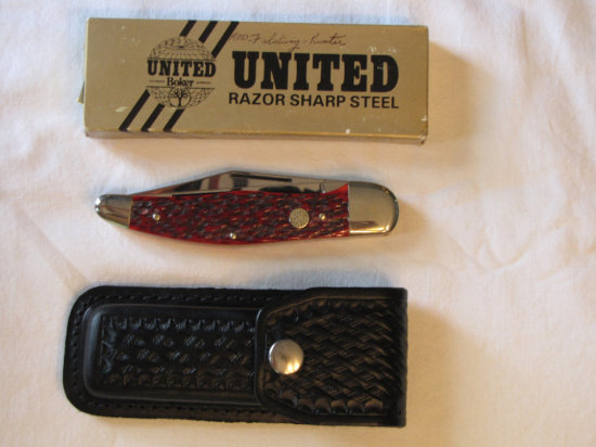 Boker UC152R Folding Hunter knife w/box and sheath
