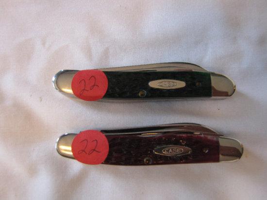 Case XX Hawbaker's special Improved Muskrat knives