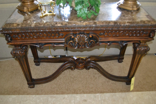 Marble Top Foyer Table