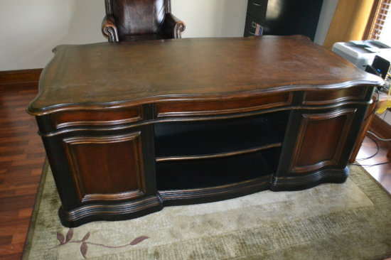 Executive Desk w/ Leather Chair