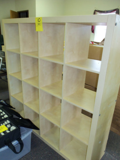 16 hole wood storage shelves