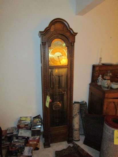 Colonial Grandmothers Clock with oak case