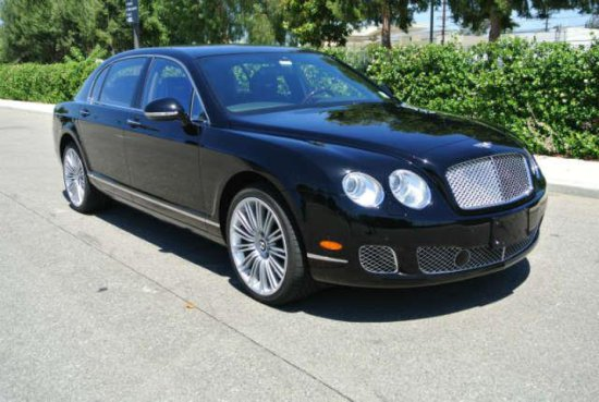2012 Black Bentley Continental Flying Spur