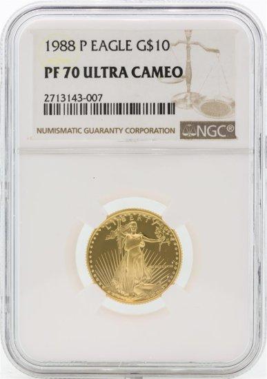 1988-P PF70 Ultra Cameo $10 Gold Eagle