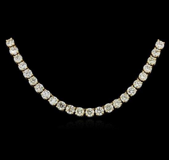 18KT Yellow Gold 12.11 ctw Diamond Necklace