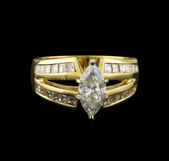 2.17 ctw Diamond Ring - 14KT Yellow Gold