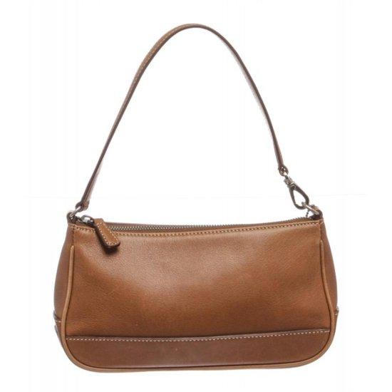 Coach Brown Leather Pochette Bag