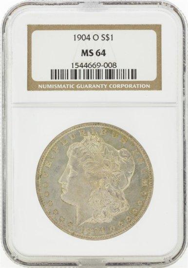 1904-O MS64 NGC Morgan Silver Dollar