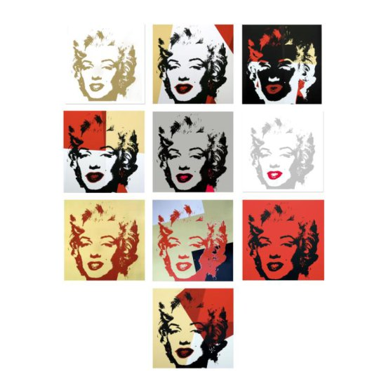 Golden Marilyn Portfolio by Warhol, Andy