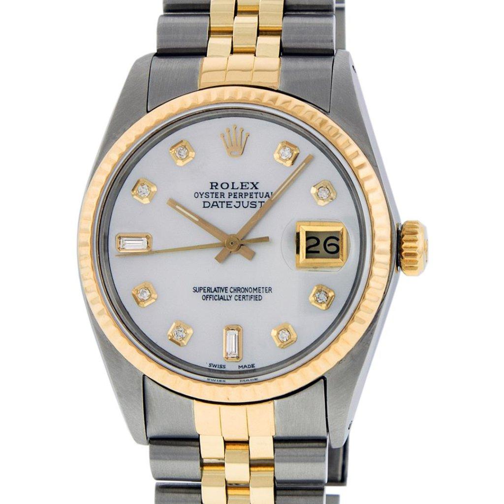 Rolex Two-Tone Diamond DateJust Men's Watch