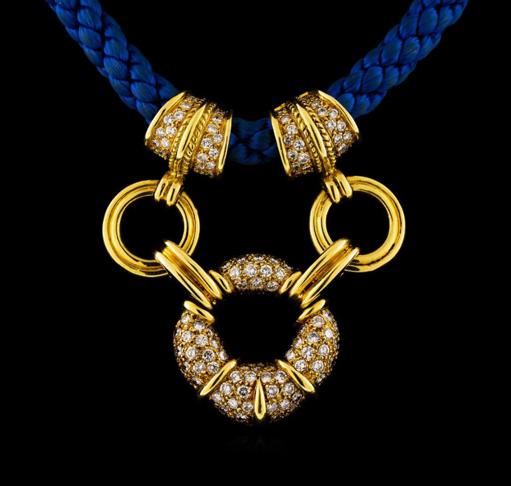 3.12 ctw Diamond Necklace - 18KT Yellow Gold