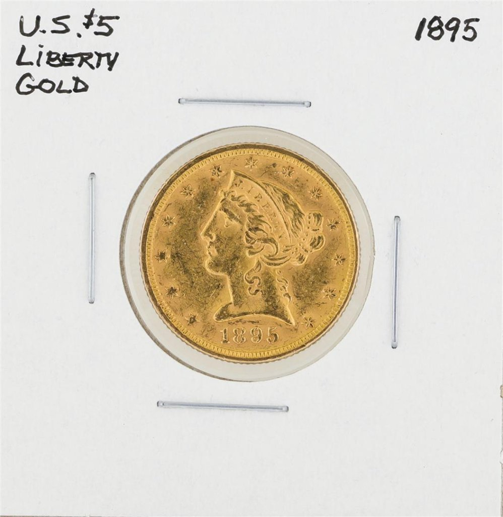 1895 $5 Liberty Head Half Eagle Gold Coin