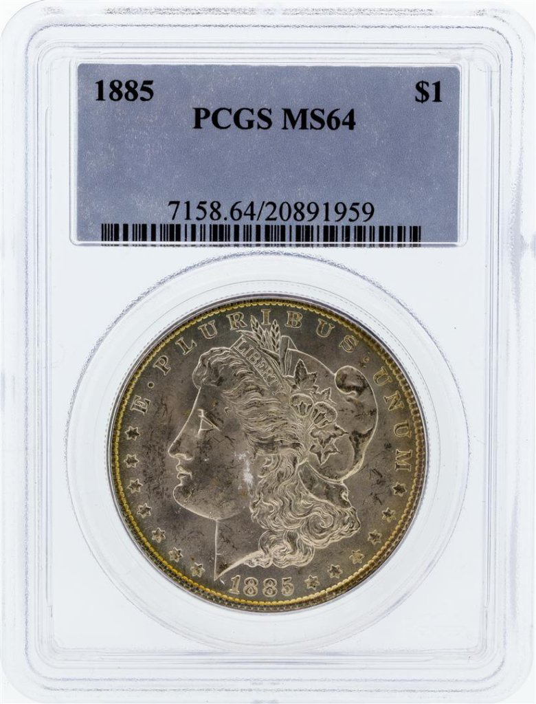 1885 PCGS MS64 Morgan Silver Dollar