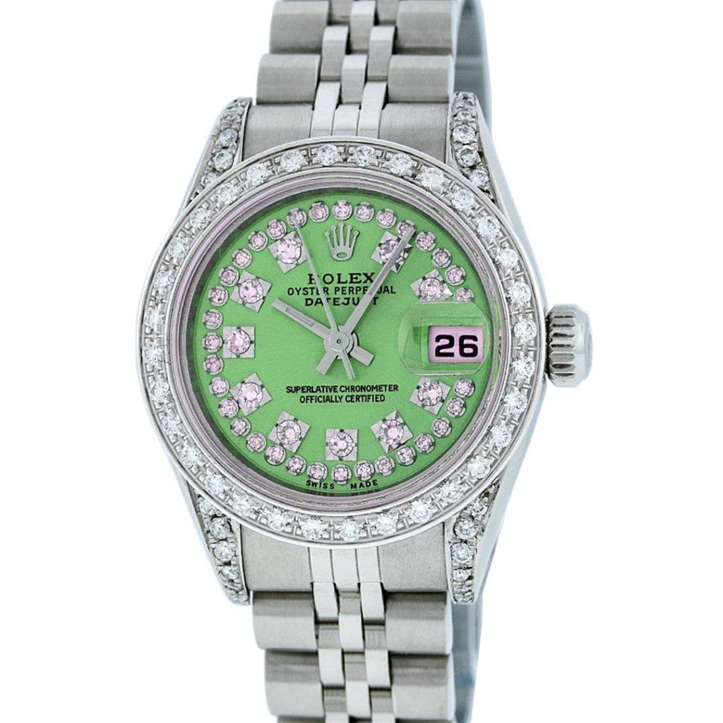 Rolex Stainless Steel VVS Diamond DateJust Ladies Watch