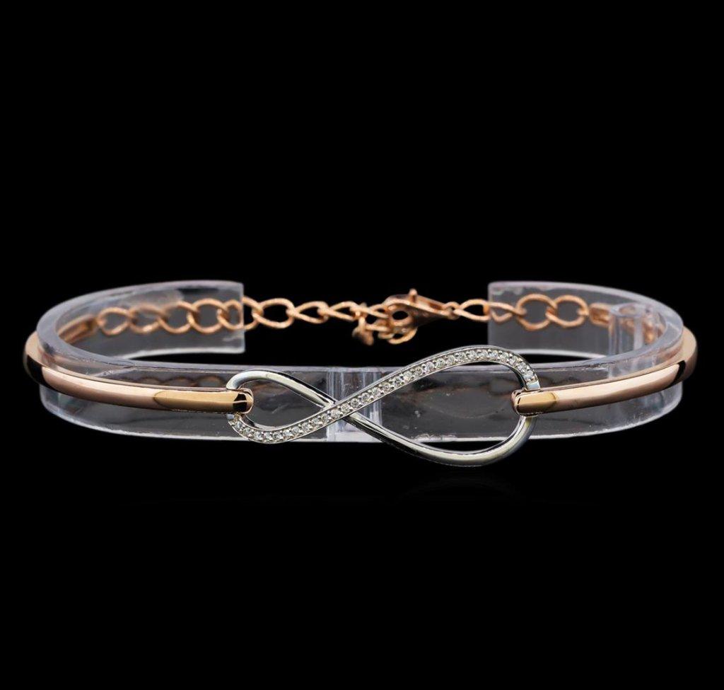 0.37 ctw Diamond Bracelet - 14KT Two Tone Gold
