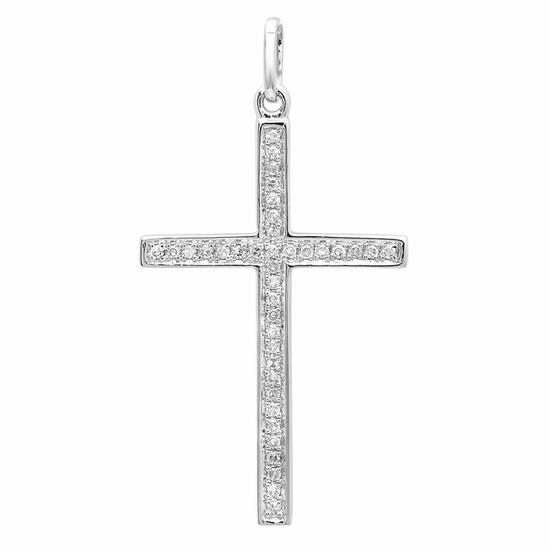 18k Gold 0.06CTW  Cross Necklaces/Pendants