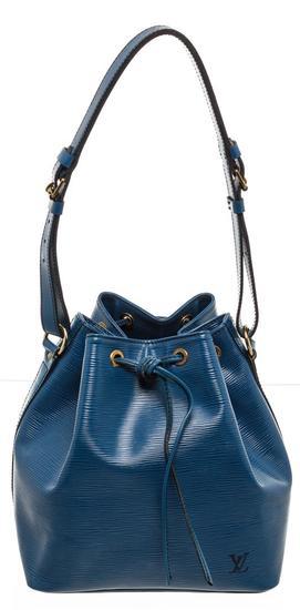 Louis Vuitton Blue Epi Leather Noe PM Drawstring Shoulder Bag