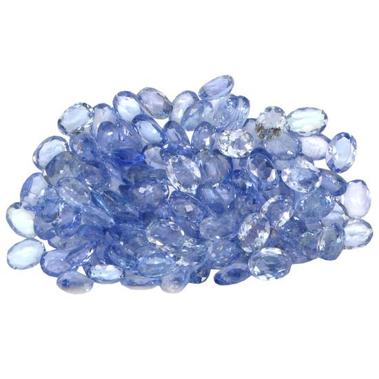 16.46 ctw Oval Mixed Tanzanite Parcel