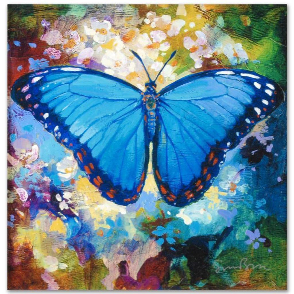 Blue Morpho by Bull, Simon | Art, Antiques & Collectibles