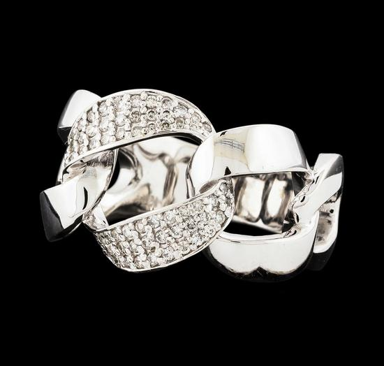 0.33 ctw Diamond Ring - 14KT White Gold