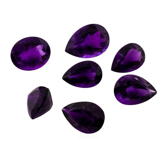 24.21 ctw.Natural Mixed Shape Amethyst Parcel of Seven