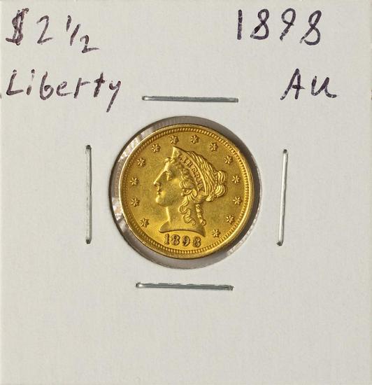 1898 $2 1/2 Liberty Head Quarter Eagle Gold Coin