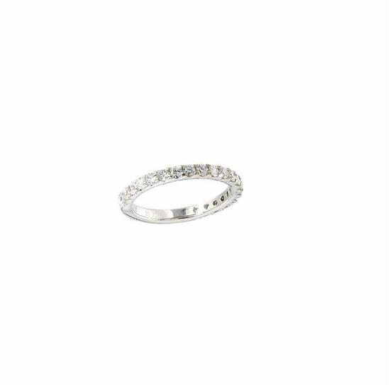 2.84 ctw Ruby and Diamond Wedding Set - 14KT White Gold