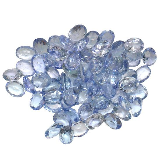 12.41 ctw Oval Mixed Tanzanite Parcel