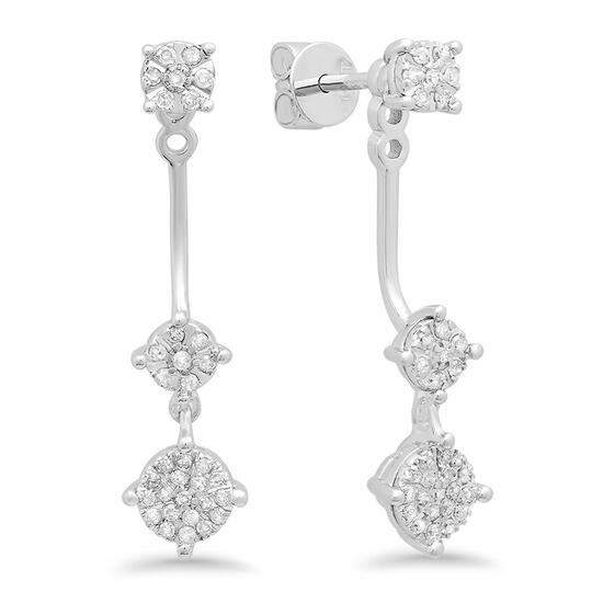 14k Gold 0.27CTW Diamond Earrings, (I1/G-H)