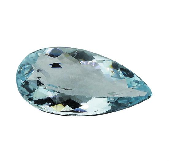 3.09 ct.Natural Pear Cut Aquamarine
