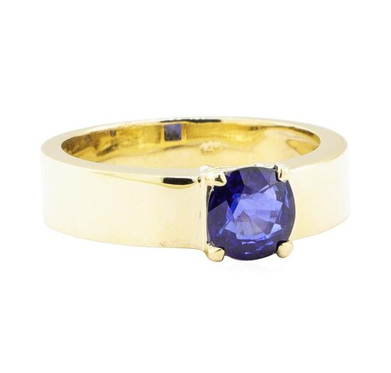 1.60 ctw Sapphire Mens' Band - 14KT Yellow Gold