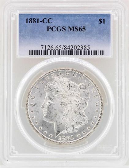1881-CC $1 Morgan Silver Dollar Coin PCGS MS65