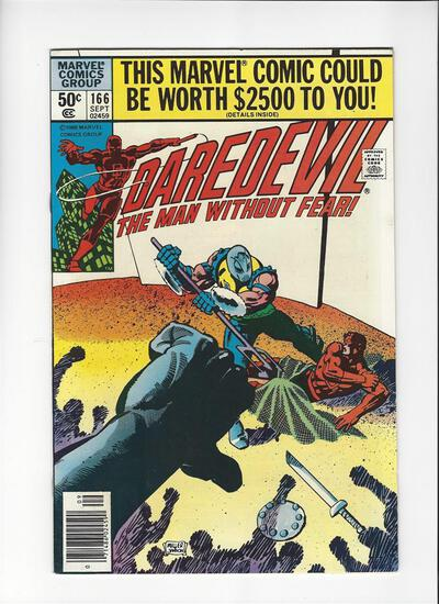 Daredevil The Man Without Fear Issue #166 by Marvel Comics