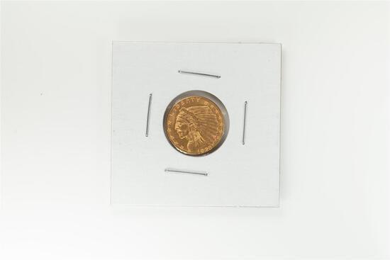 1952-D $2 1/2 Indian Head Quarter Eagle Gold Coin