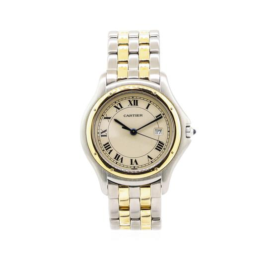 Cartier Cougar Wrist Watch - Stainless Steel and 18KT Yellow Gold