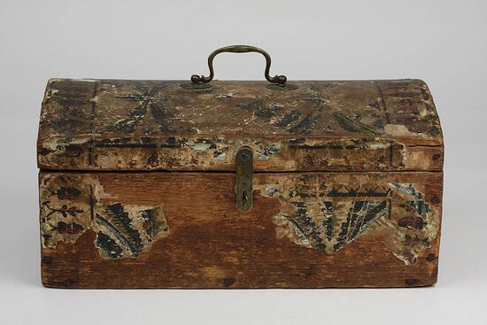 Antique Wallpaper Box Circa 1800s
