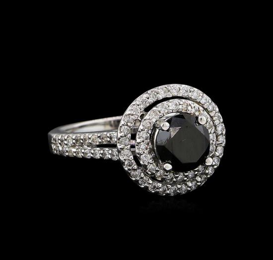 2.15 ctw Black Diamond Ring - 14KT White Gold