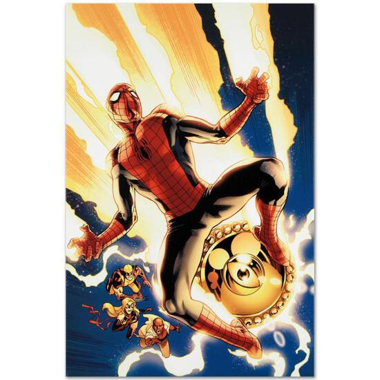 "Marvel Comics ""New Avengers #4"" Numbered Limited Edition Giclee on Canvas by Stu"
