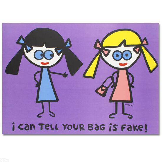 """""""I Can Tell Your Bag is Fake"""" Limited Edition Lithograph (38"""" x 27"""") by Todd Gol"""
