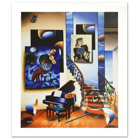 """""""Fiddler"""" Limited Edition Giclee on Canvas by Ferjo, Numbered and Hand Signed by"""