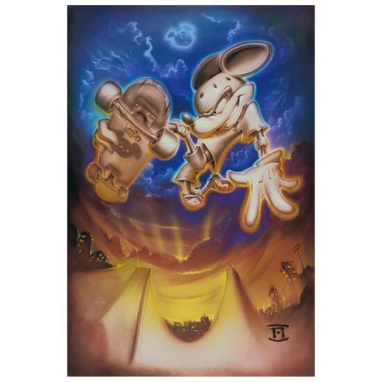 """Noah, """"Grind Mouse"""" Limited Edition Giclee on Canvas, Licensed by Disney Fine Ar"""