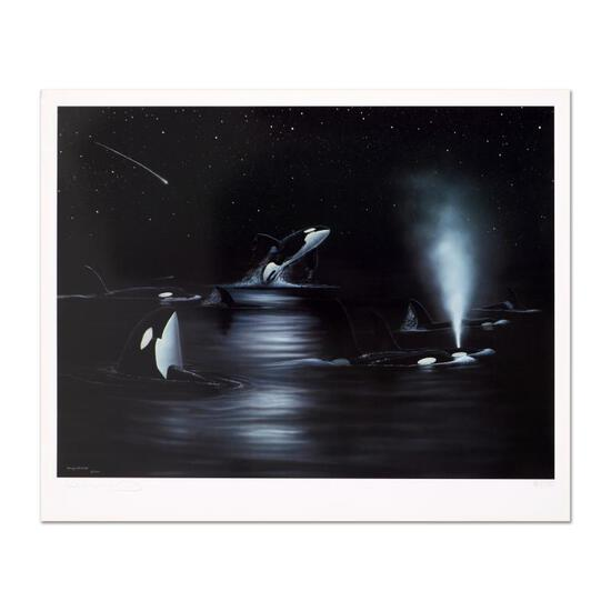 "Wyland, ""Orca Starry Night"" Limited Edition Lithograph, Numbered and Hand Signed"