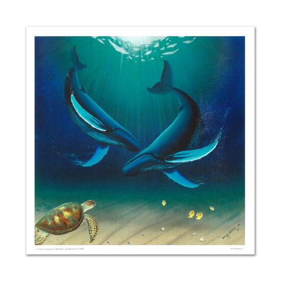 """In the Company of Whales"" Limited Edition Giclee on Canvas by renowned artist W"