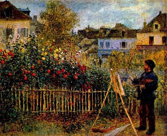 Claude Monet - Monet Painting in His Garden in Argenteuil